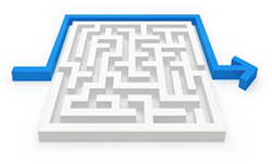 Maze with Arrow Going Around It